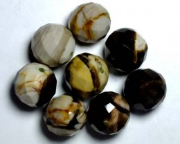 PETRIFIED WOOD BEADS, (8PC) 62.90CTS NP-1120