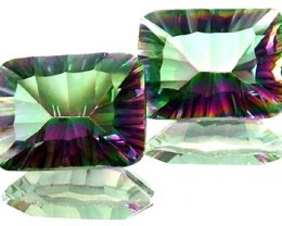 PAIR 'GALAXY' MYSTIC QUARTZ 18.80 CTS [TS280 ]