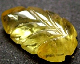 SAPPHIRE LEAF CARVINGS -NATURAL-YELLOW  1.30 CTS  [ST 365]