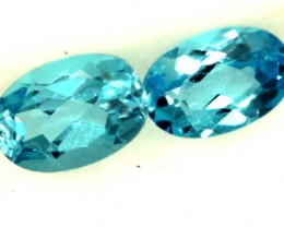 BLUE TOPAZ NATURAL FACETED (PAIR) 1.05 CTS  PG-1220