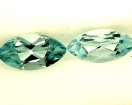 BLUE TOPAZ NATURAL FACETED ( 2 PCS) 1.55 CTS  PG-1409