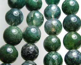 100% Natural African Moss Agate Beads B608