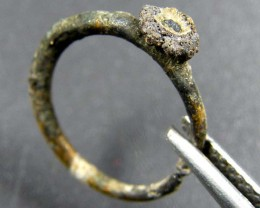 GOLD RING /PLATINA COVERED ANCIENT ROMAN  ARTIFACT  OP 1837