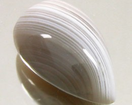 BANDED AGATE 5.20 CARAT WEIGHT PEAR SHAPED CABOCHON GEMSTONE
