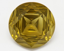 NEW  IDAR OBERSTEIN YANTRA cut OLIVE QUARTZ 9.75ct