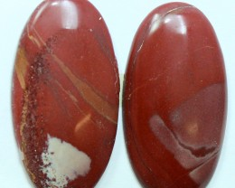 25.60 CTS NOREENA JASPER PAIR PERFECT FOR EARRINGS