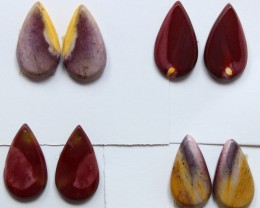 29.50 CTS -  4 SETS OF MOOKAITE JASPER  PAIR PARCEL DEAL