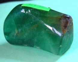 644 CTS  GREEN FLUORITE  SPECIMEN POLISHED 11 514