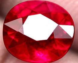 2.02 Carat Pinkish Red VS Ruby - Superb Color