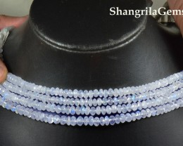 "7mm Rainbow Moonstone AA beads 10"" line SALE FROM $180"