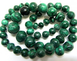 STRAND   MALACHITE GEMSTONE  BEADS  GG 1496