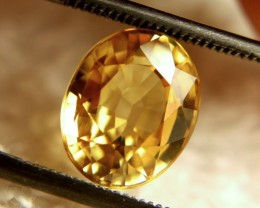 3.48 Carat VVS1 Golden Yellow Zircon - Superb
