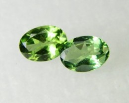 AAA+ Brazil Olive Apatite Faceted Stone Pair Z 1181