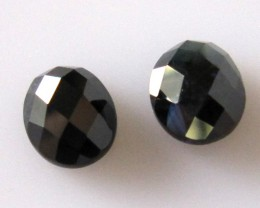 4.17cts  Matching Pair Natural Sapphires Oval Checker Board 2pcs Beautiful