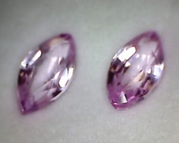 Glowing Pale Pink 1.24ct Marquise Cut Sapphire pair, VVS  BB17