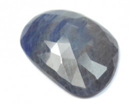 20mm designer irregular cut Sapphire faceted cabochon