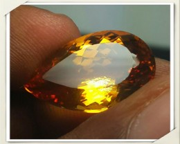 12.20 Cts DAZZLING NATURAL ULTRA RARE GOLDEN YELLOW CITRINE