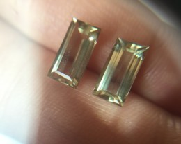 3.76ct Certified Color Change Diaspore Pair