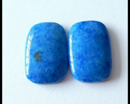 44 Ct Natural Lapis Lazuli Gemstone Cabochon Pair