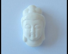 40.1 ct White Agate Buddha Pendant Bead,Holiday Pendants