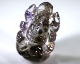 30CTS AMETRINE CARVING-INDIAN LORD GANESH LT-322