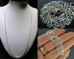 NECKLACE SILVER CHAIN 925 CHAIN 56CM CMT 24