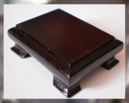 A Lovely Solid Wood Display Base for Jewelry & Gems