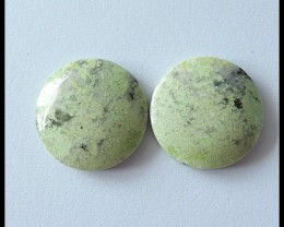 32.5Cts Pair Natural Serpentine Gemstone Cabochons