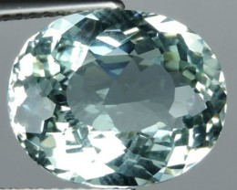5.95 Cts STUNNING RARE NATURAL LUSTER MINT GREEN AQUAMARINE BRAZIL NR!