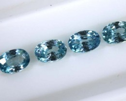 3.30 CTS BLUE FACETED ZIRCON CAMBODIA PARCEL (4PCS) RNG-367