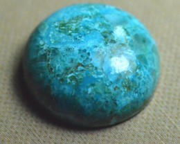 17mm round AZURITE CHRYSOCOLLA turquoise cabochon