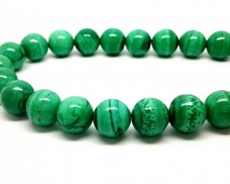 580 CT MALACHITE BEADS STRAND TOP QUALITY GREEN STONE 12MM28