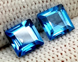 1.70CT SWISS BLUE TOPAZ PAIR GEMSTONES