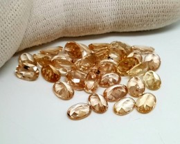35CT MORGANITE CALIBRATED OVAL FACETED GEMSTONE LOT PARCEL