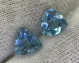 2.60 Natural London Blue Topas Pair Faceted Cut Gemstone