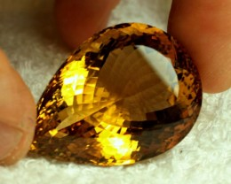 100.5 Carat Vibrant Whiskey VVS1 Citrine - Superb