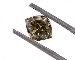 3.27 ct. Natural Fancy Yellowish Brown Octagon shape Diamond