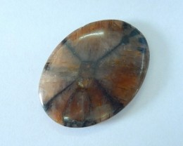 Natural Andalusite Cabochon,38x28x6mm,59ct(17062502)