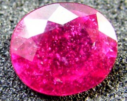 EYE CLEAN SPARKLING OVAL RUBY 0.90 CTS RM 123