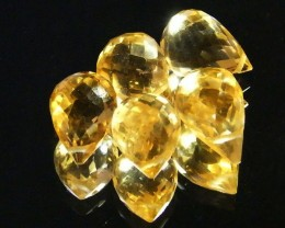 AAAA FLAWLESS GOLDEN YELLOW TOPAZ PARCEL 13.75 CTS SGS 683