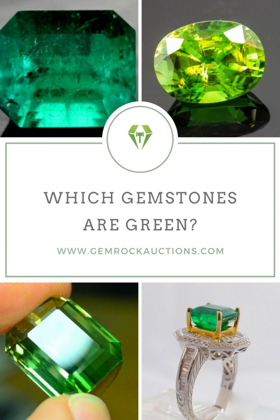 which gemstones are green