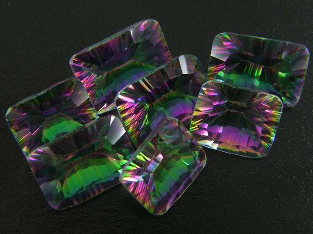 PARCEL 7 PC MYSTIC QUARTZ  VVS  FACETED 41.45 CTS  GTT 464