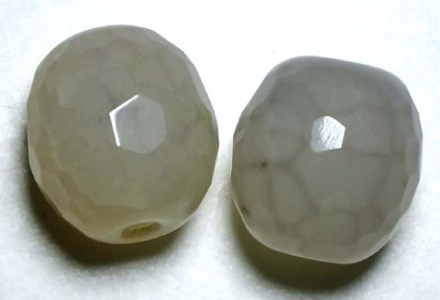 WEB AGATE DRILLED NATURAL 2PC 38.50CTS NP-1240