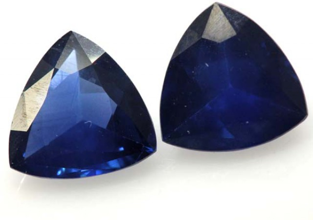 SAPPHIRE FACETED PAIR 4.12 CTS SUS