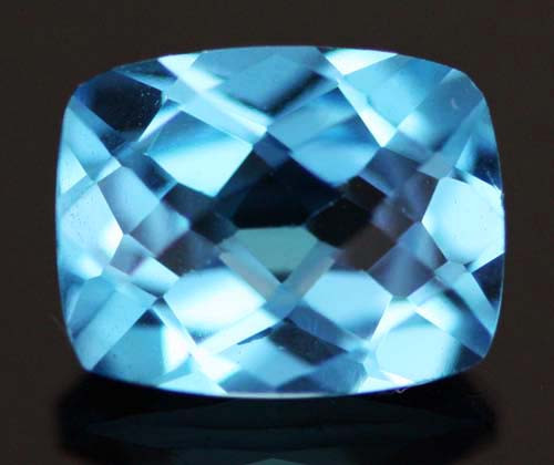 2.75 CTS VVS BLUE  TOPAZ  STONE CUSHION  CUT [S6180]