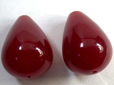PAIR 2 PCS LARGE NATURAL QUARTZ BEADS 93.50 CARATS GW 1644