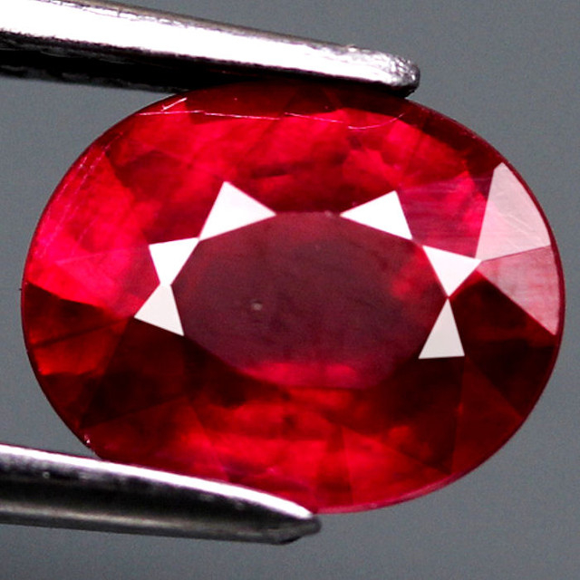 1.41 Carat Fiery VS Cherry Ruby - Gorgeous Gem