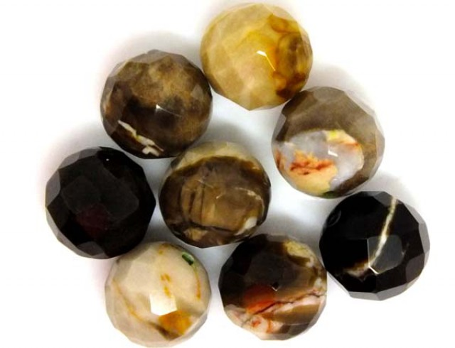 PETRIFIED WOOD BEADS, (8 PC) 65 CTS  NP-1186
